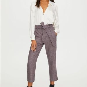 Aritzia new tie-front wool pant, Wilfred trouser